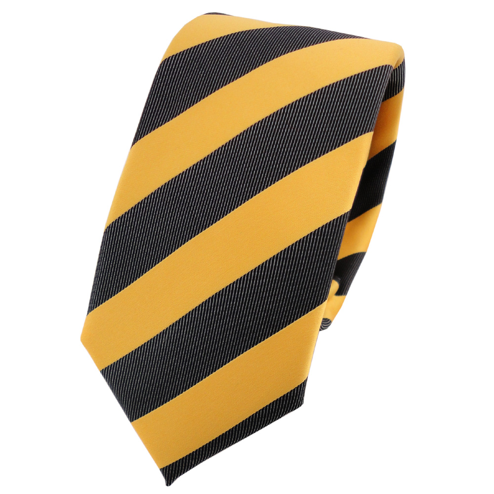 schmale tigertie krawatte gelb goldgelb anthrazit schwarz