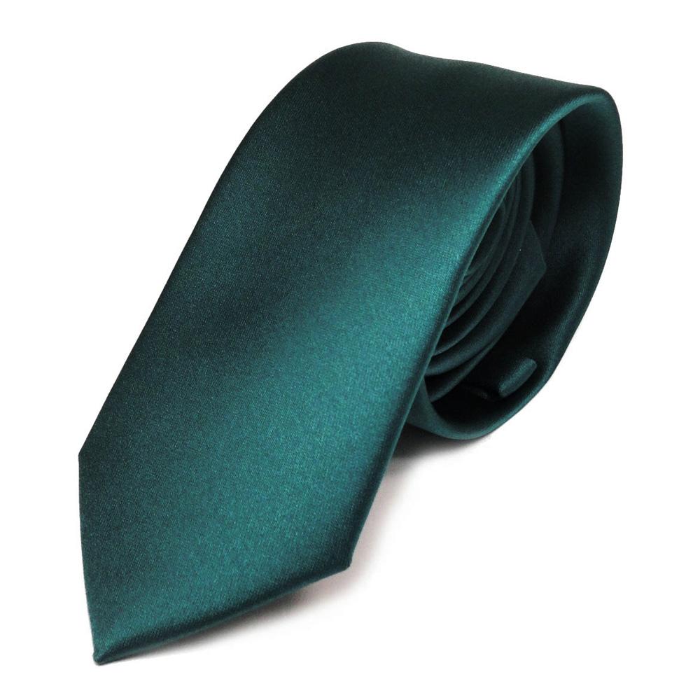 schmale tigertie satin krawatte gr n petrol dunkles t rkis uni 100 polyester ebay. Black Bedroom Furniture Sets. Home Design Ideas