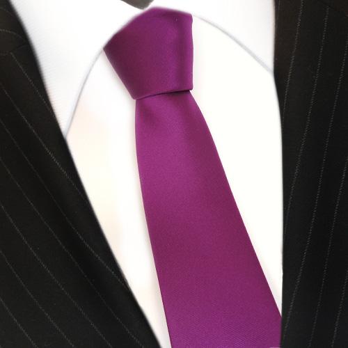 TigerTie Designer Seidenkrawatte magenta fuchsia weiß gestreift Krawatte Seide