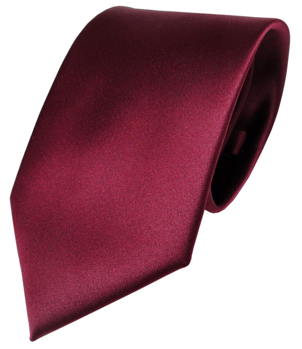schöne TigerTie Krawatte Binder Tie Polyester Einstecktuch in rosa pink uni