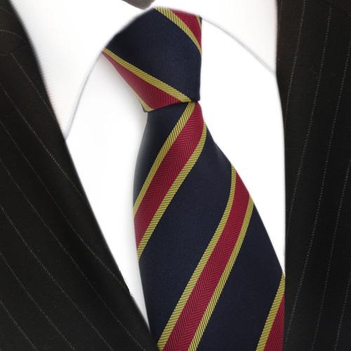 gold und weiß gestreifte krawatte